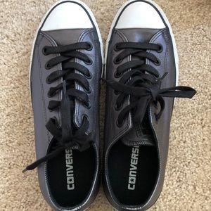 Metallic Gray Converse All-Star Sneakers